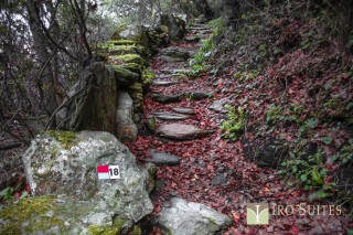 andros hiking iro suites path