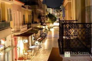 chora iro suites by night